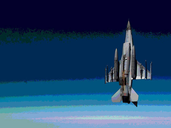 Wall Art - Photograph - General Dynamics F-16 Fighting Falcon Enhanced by L Brown