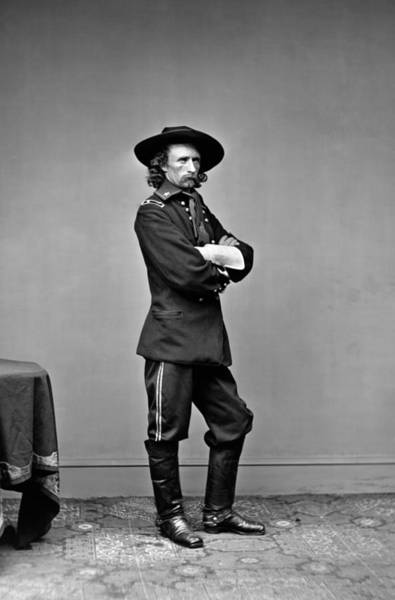 Cavalry Photograph - General George Custer Standing Portrait - 1865 by War Is Hell Store