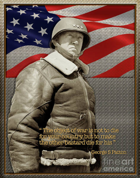 Photograph - General George S Patton by Carlos Diaz