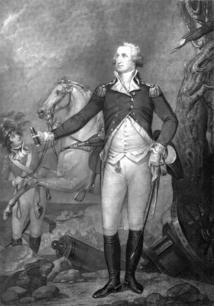 Wall Art - Painting - General George Washington At Trenton by War Is Hell Store