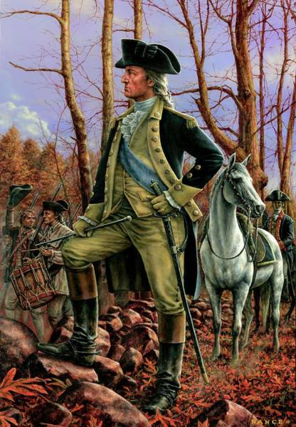 1776 Painting - General George Washington by Dan Nance