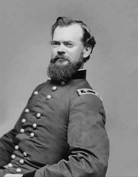 Civil War Generals Painting - General James Mcpherson  by War Is Hell Store