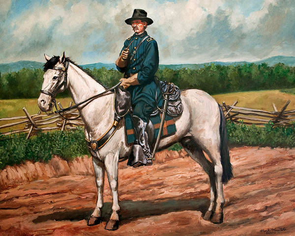 Wall Art - Painting - General John Buford - Gettysburg Campaign by Mark Maritato