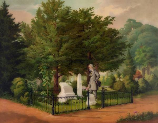Stonewall Jackson Painting - General Lee's Last Visit To Stonewall Jackson's Grave by Library Of Congress