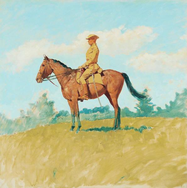 Whip Painting - General Leonard Wood On Horseback by Frederic Remington