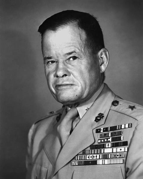 Wall Art - Photograph - General Lewis Puller - 1952 by War Is Hell Store
