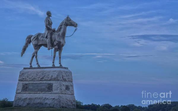 George Steele Wall Art - Photograph - General Meade Monument Gettysburg Battlefield  by Randy Steele