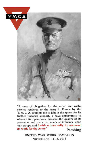 Political Propaganda Painting - General Pershing - United War Works Campaign by War Is Hell Store