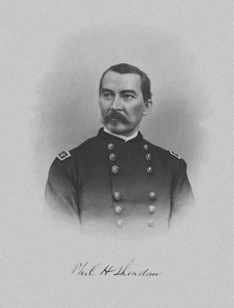 Us Civil War Mixed Media - General Philip Sheridan by War Is Hell Store