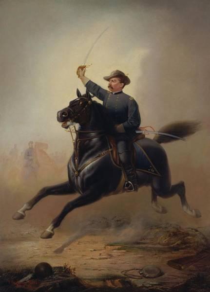 Wall Art - Painting - General Philip Sheridan's Ride - Thomas Buchanan Read by War Is Hell Store