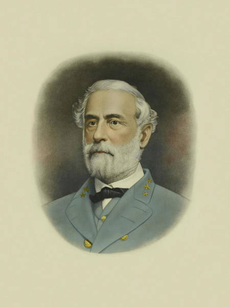 Confederate Generals Painting - General Robert E. Lee Color Portrait  by War Is Hell Store