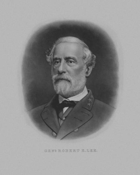 Wall Art - Painting - General Robert E. Lee Print by War Is Hell Store