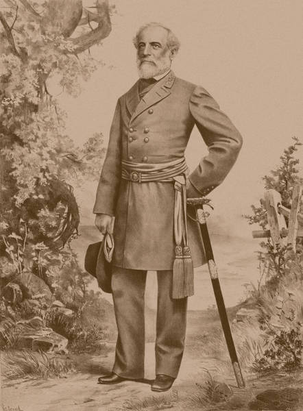 Wall Art - Drawing - General Robert E. Lee Standing by War Is Hell Store