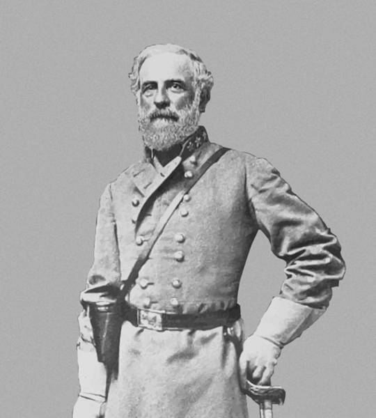 Wall Art - Painting - General Robert E Lee by War Is Hell Store