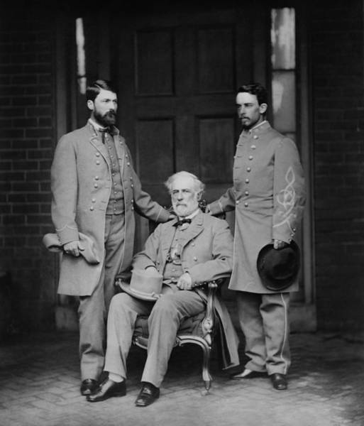 Wall Art - Photograph - General Robert Lee And Staff - 1865 by War Is Hell Store