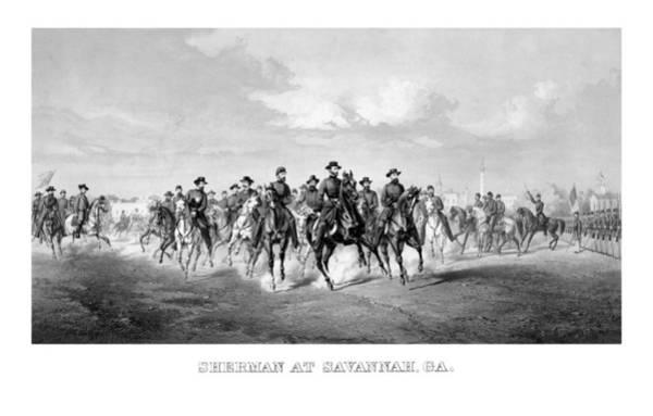 Us Civil War Mixed Media - General Sherman At Savannah by War Is Hell Store