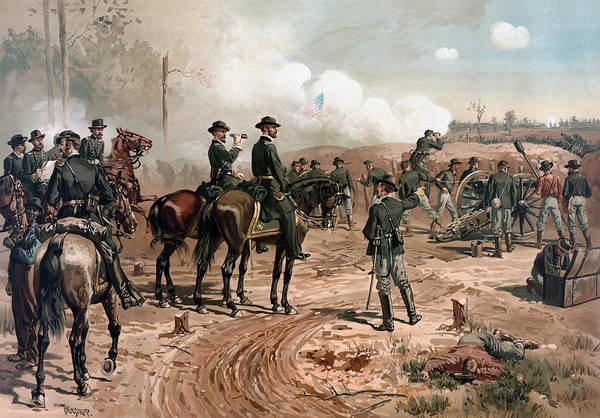 Wall Art - Painting - General Sherman Observing The Siege Of Atlanta by War Is Hell Store