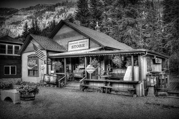 Photograph - General Store Black And White by Ryan Smith