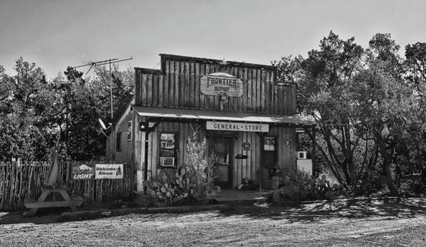 Wall Art - Photograph - General Store Near Fredericksburg Black And White by Judy Vincent