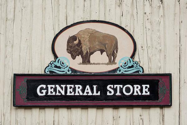 Wall Art - Photograph - General Store Sign by Steve Gadomski