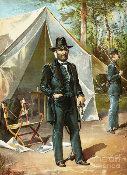 Wall Art - Painting - General Ulysees S Grant  by American School