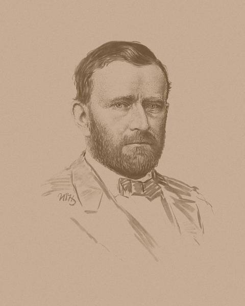 Wall Art - Mixed Media - General Ulysses S Grant by War Is Hell Store