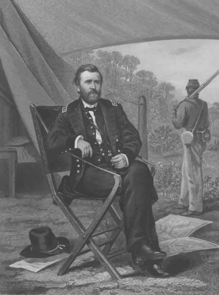U. S. Presidents Wall Art - Painting - General U.s. Grant by War Is Hell Store
