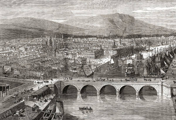 Wall Art - Drawing - General View Of Belfast, Northern by Vintage Design Pics