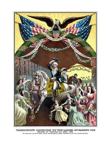 Wall Art - Painting - General Washington's Reception At Trenton by War Is Hell Store