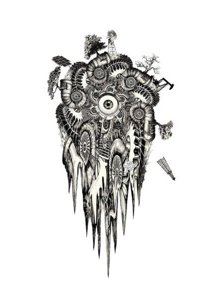 Petroleum Drawing - Generation by Matthew Ridgway