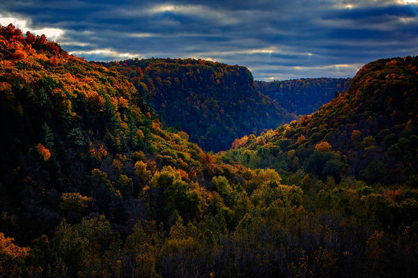 Letchworth Photograph - Genesee River Gorge by Rick Berk