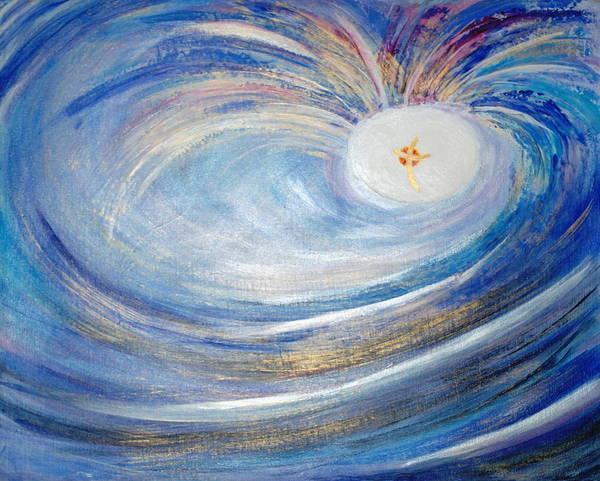 Painting - Genesis One 6 And 7 by Deborah Brown Maher