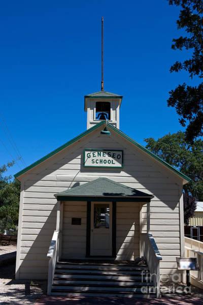 Pioneer School Photograph - Geneso School Paso Robles by Jason O Watson