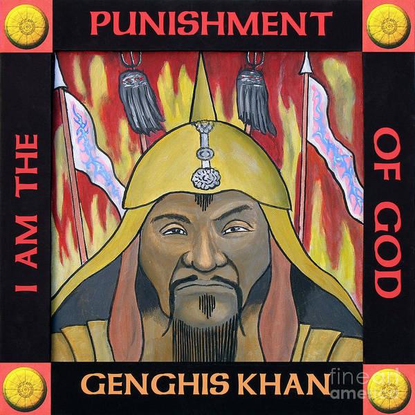 Helm Painting - Genghis Khan Portrait by Paul Helm