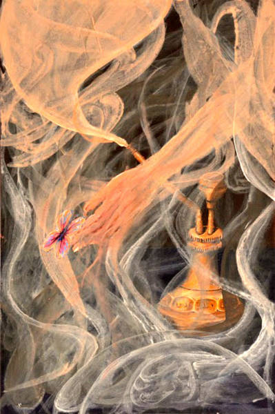 Genie Painting - Genie From The Bottle by Medea Ioseliani