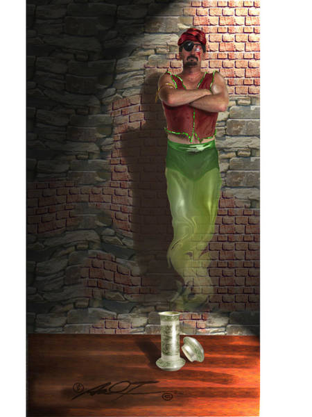 Genie Painting - Genie In A Bottle by Dale Turner