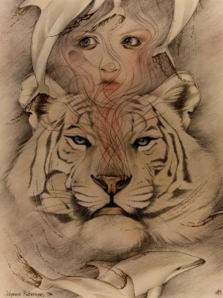 Drawing - Genie by Johanna Pieterman