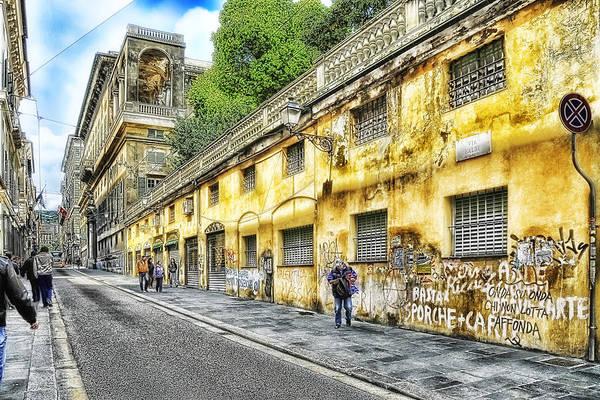 Photograph - Genova Balbi Road - Genova Via Balbi by Enrico Pelos