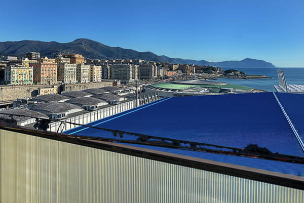 Photograph -  Genova Town Landscape From Abandoned Office Building Roof by Enrico Pelos