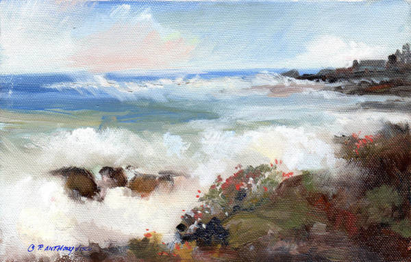 Wave Breaking Painting - Gentle Breakers by P Anthony Visco
