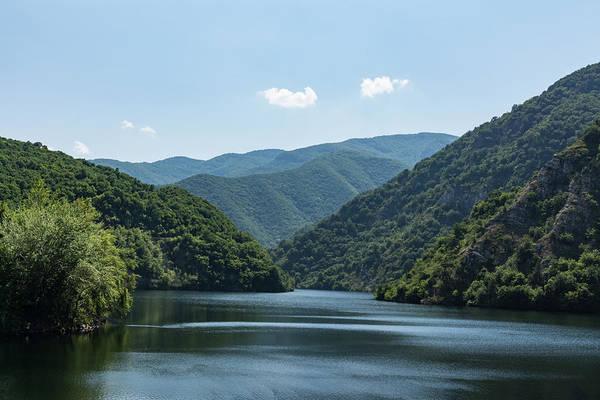 Photograph - Gentle Breeze - Calm Mountain Lake Ruffled By The Wind by Georgia Mizuleva