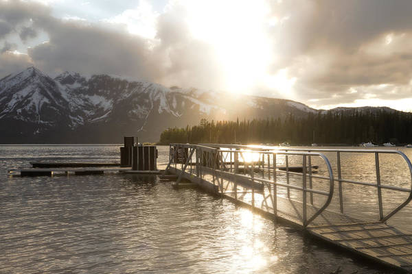 Photograph - Gentle Evening Light Jackson Lake by Dan Sproul