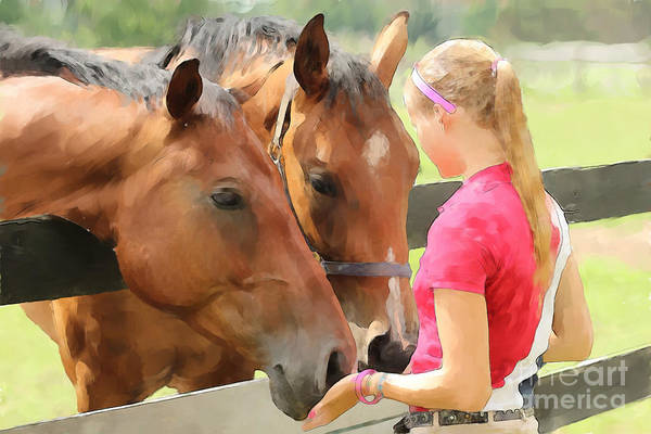 Photograph - Gentle Giants by Life With Horses