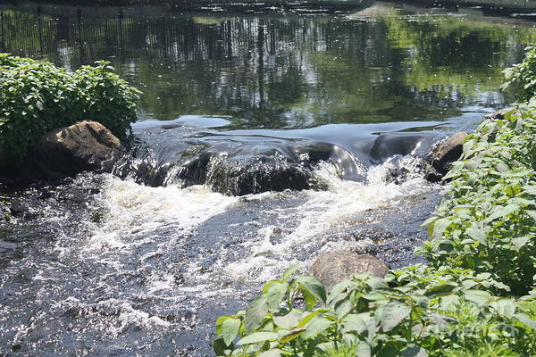 Rock Island Line Photograph - Gentle Long Island White Water Stream by John Telfer