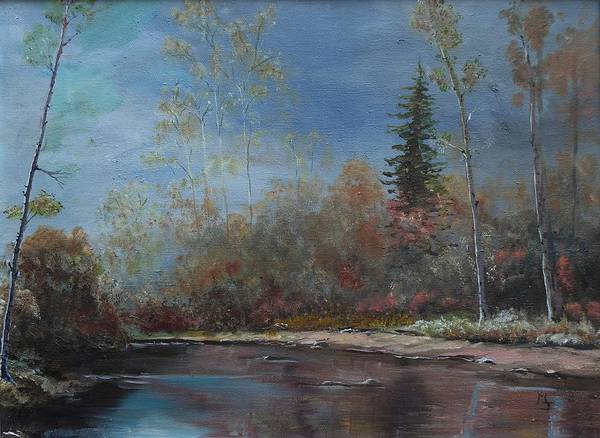 Painting - Gentle Stream - Lmj by Ruth Kamenev