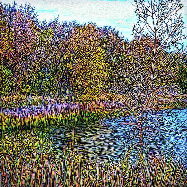 Digital Art - Gentle Wind On Crystal Lake by Joel Bruce Wallach