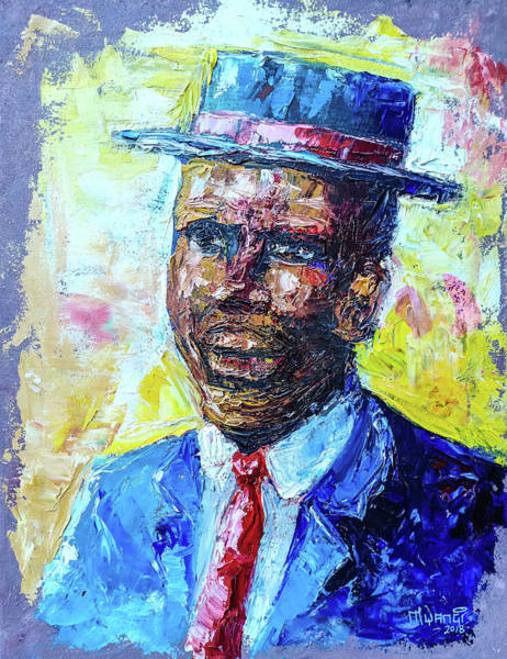 Oil Well Painting - Gentleman by Anthony Mwangi