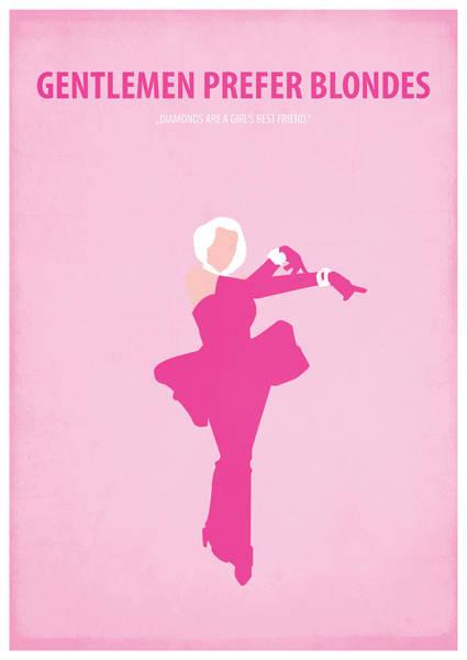 Blondie Digital Art - Gentlemen Prefer Blondes by Fraulein Fisher