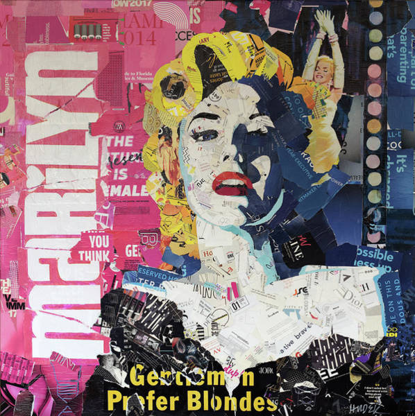 Leading Actress Wall Art - Mixed Media - Gentlemen Prefer Blondes by James Hudek