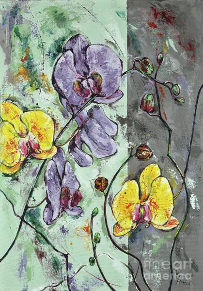 Painting - Gently Interweaving  II by Maria Arnaudova